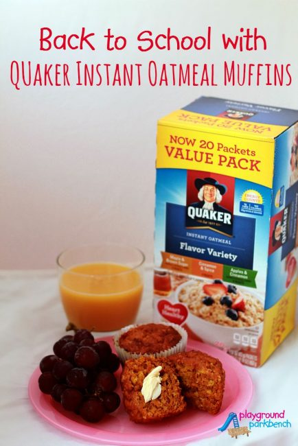 Back to School with Quaker Instant Oatmeal Muffins