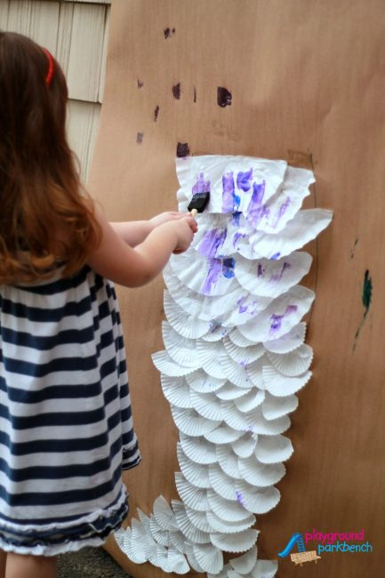DIY Mermaid Tail for Kids - Painting the Tail