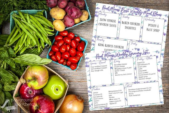 Real Moms Best Weekly Meal Plans - 5 weeknight dinner, on a printable menu complete with grocery list. Take the hassle out of meal planning - just download, print and go!
